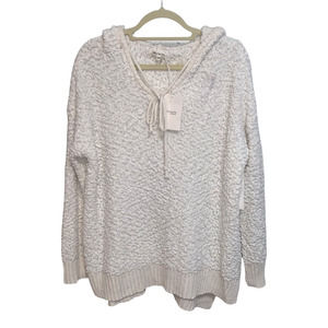 NWT THE MIRACLE SWEATER Lightweight Popcorn Knit Hoodie Oversized Boxy S/M New